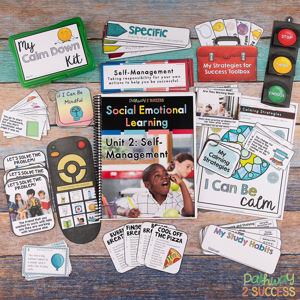 Social emotional learning skills are critical for success! Use this social emotional learning complete curriculum to help elementary learners acquire skills like empathy, confidence, conflict resolution, decision-making, and more. #pathway2success