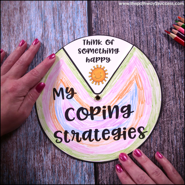It can be calming to the central nervous system to color, cut, and put something together. Printable crafts can serve as a calm down strategy while also teaching about coping skills themselves. One of my favorite crafts is this Coping Strategies Wheel because it is a tool kids and teens can use later on as well.