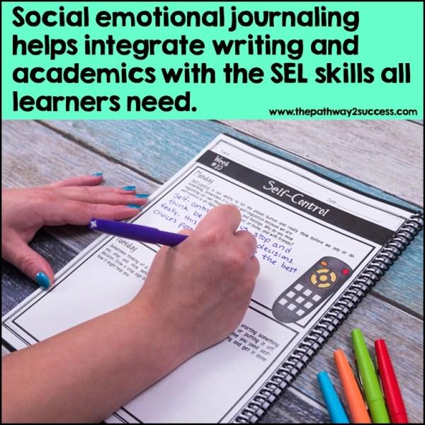 Social emotional journaling integrates writing with social emotional skills