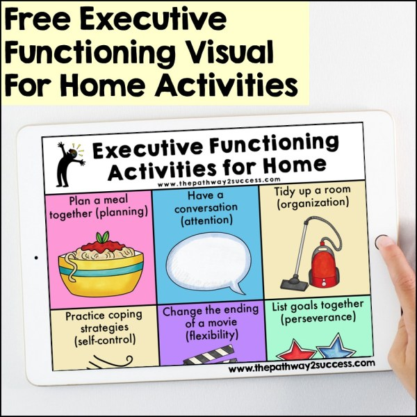Executive Functioning Skills for Home Poster