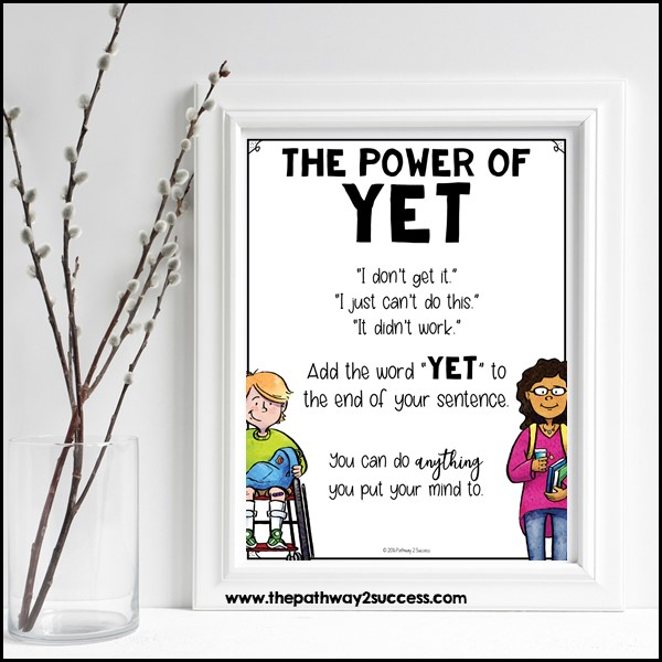 Free printable power of yet poster