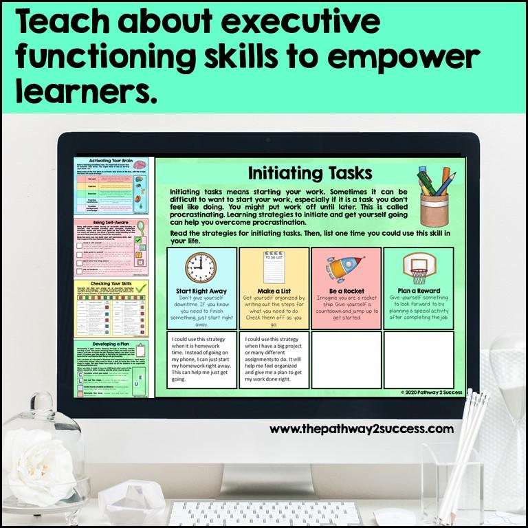 Executive functioning interactive workbook