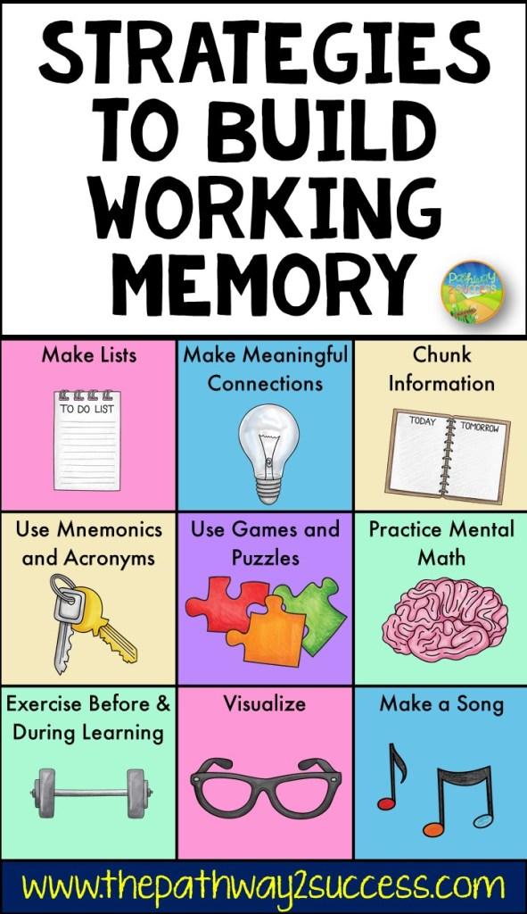 Strategies to build working memory skills