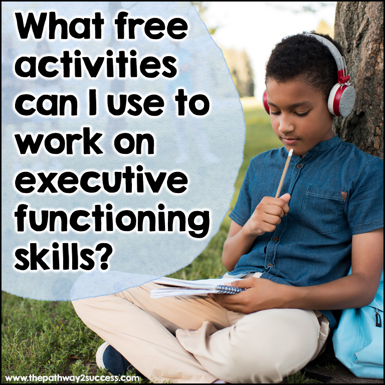 free executive functioning activities for families and parents