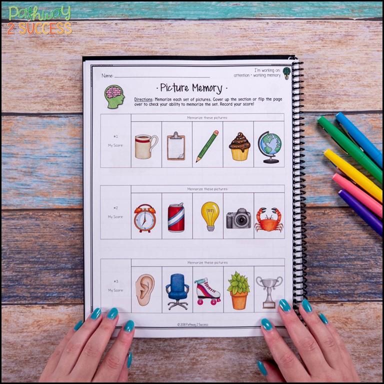Brain games for working memory skills
