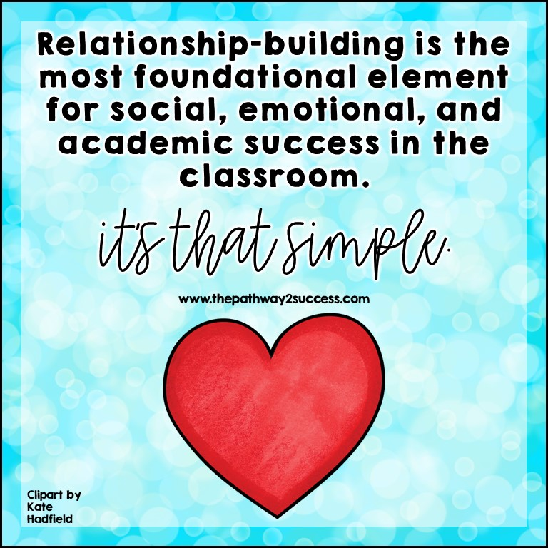 Relationship-building is profound. It is the foundation to social, emotional, and academic success for students.