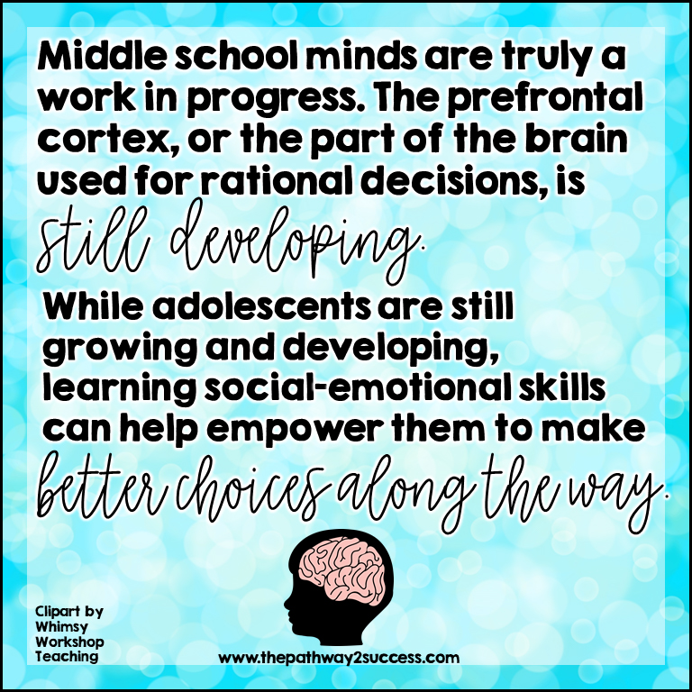 Teach social-emotional skills to middle schoolers.