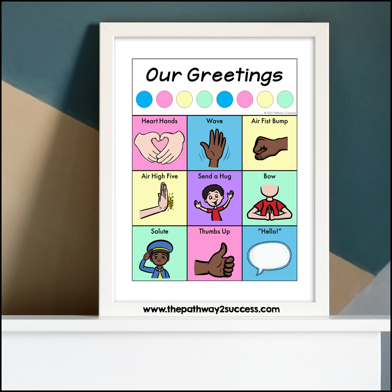 Daily greetings for social-emotional support in the classroom.