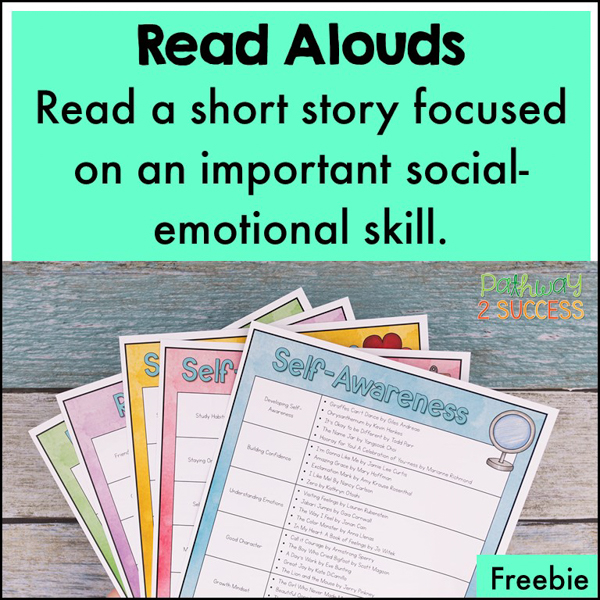 SEL read aloud list filled with meaningful books to talk about social-emotional topics in the classroom.