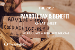 Payroll Tax & Benefit Cheat Sheet Blog