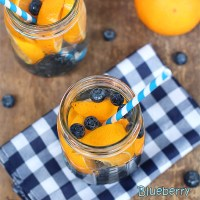 Blueberry ♥ Orange Water..... Infuse your Water!