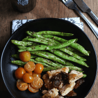 One-Pan Chicken and Pesto Beans