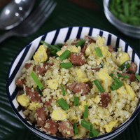 KETO Leftover Ham Fried Rice (Low Carb, Gluten-Free)
