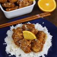 Orange Chicken from The Peach Kitchen Express (Char!)