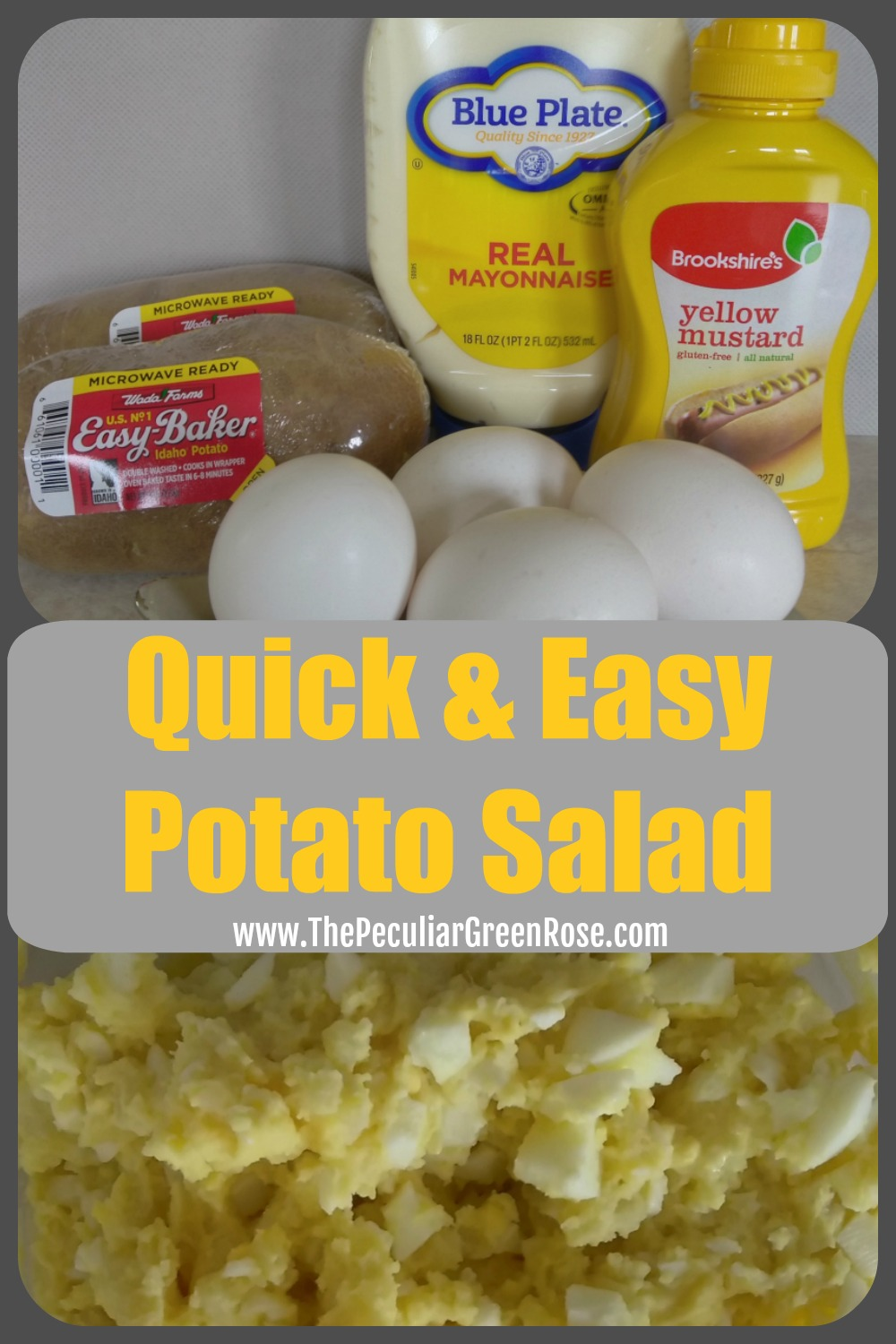 Quick Easy Potato Salad The Peculiar Green Rose