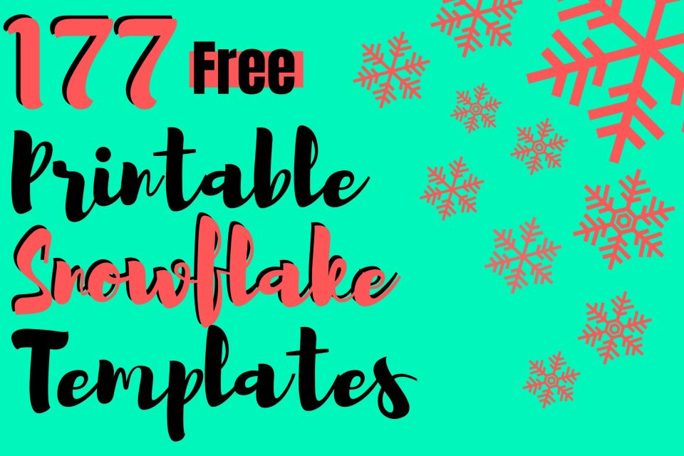 177 Free Printable Snowflake Templates Coloring Pages The Peculiar Green Rose