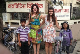 'The Dream Trust also helps to rehabilitate and give the children a future. The money we raised funded these bikes for Type 1 children so they could get to school as education is the only way out of poverty for them.'