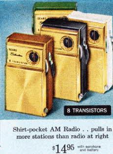 1960s Pocket Transistor Radios