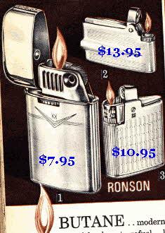 Ronson Butane Lighters