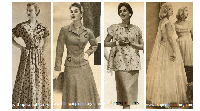 1950s Ladies Dress / Suits and Gown Examples