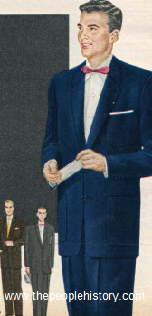 Two Piece Sheen Suit 1955