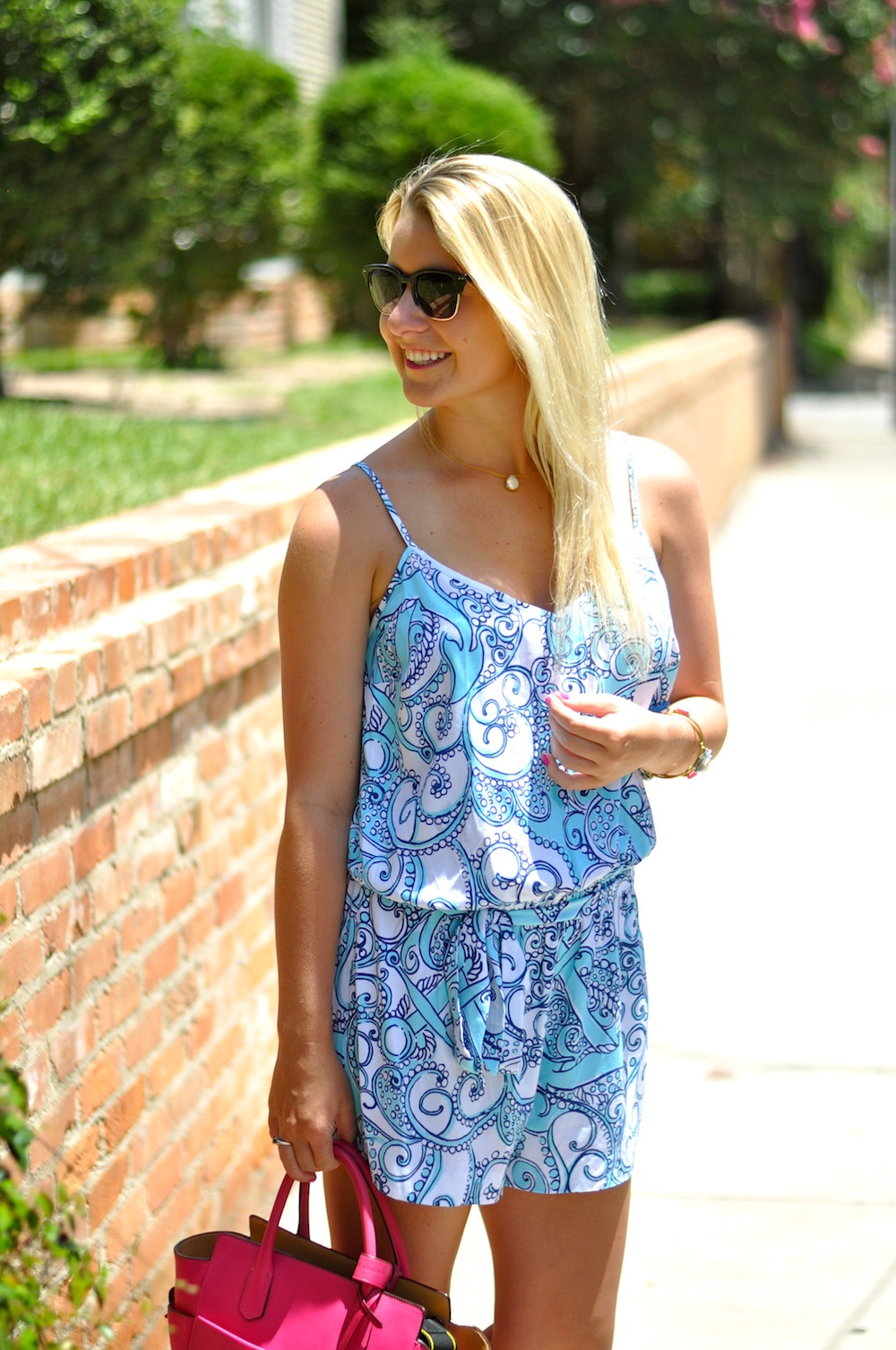 Lilly Romper Blue