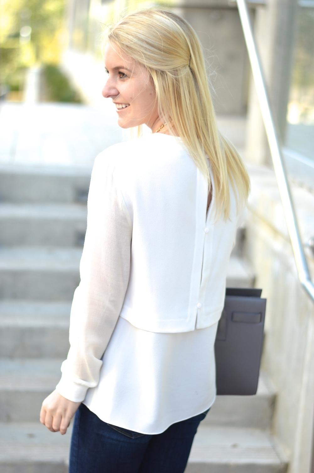 button back blouse
