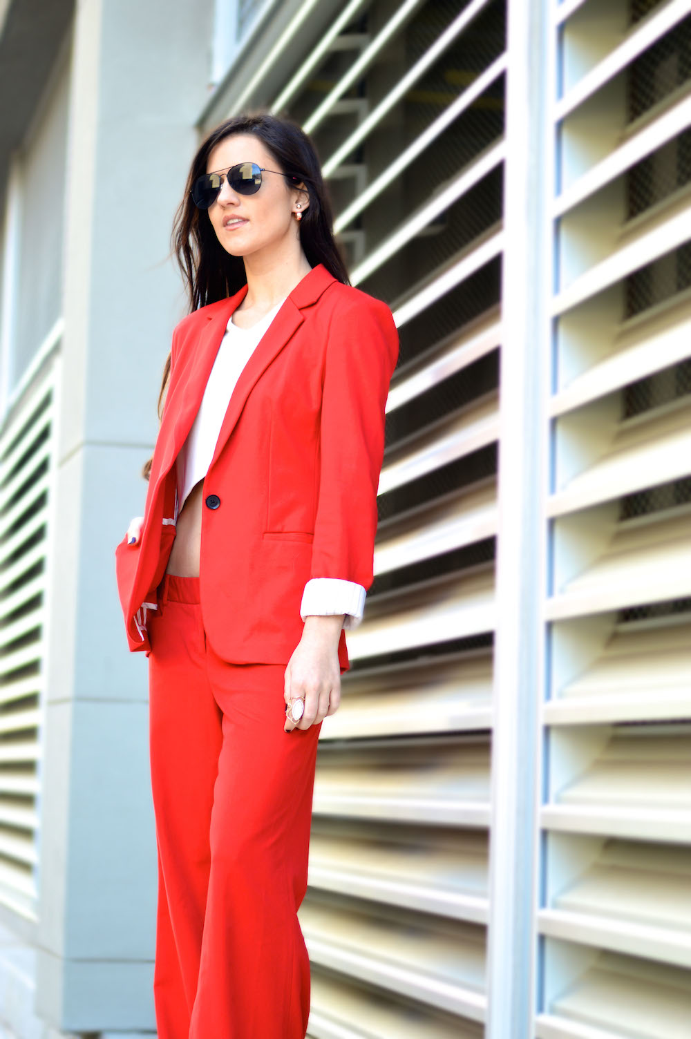pant suit with crop top