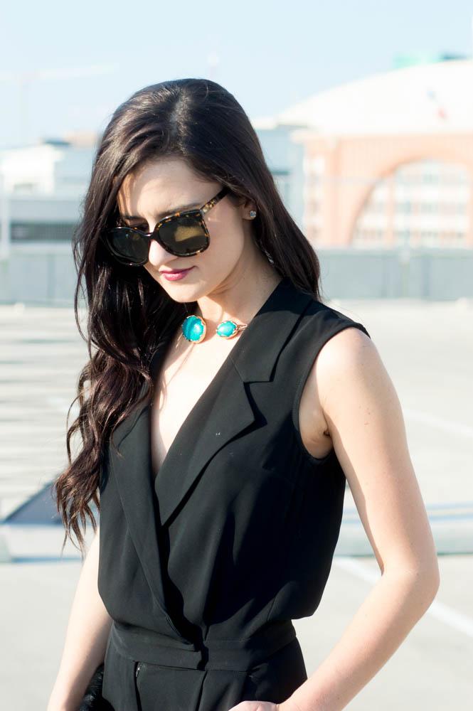 armani exchange black jumpsuit-12
