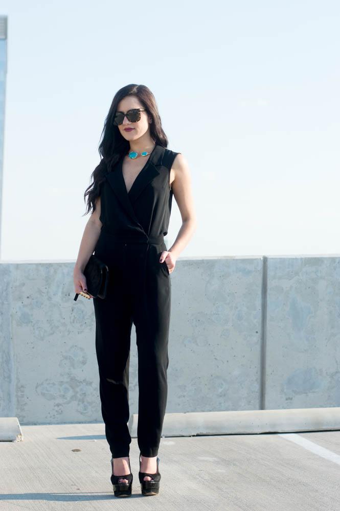 armani exchange black jumpsuit-15