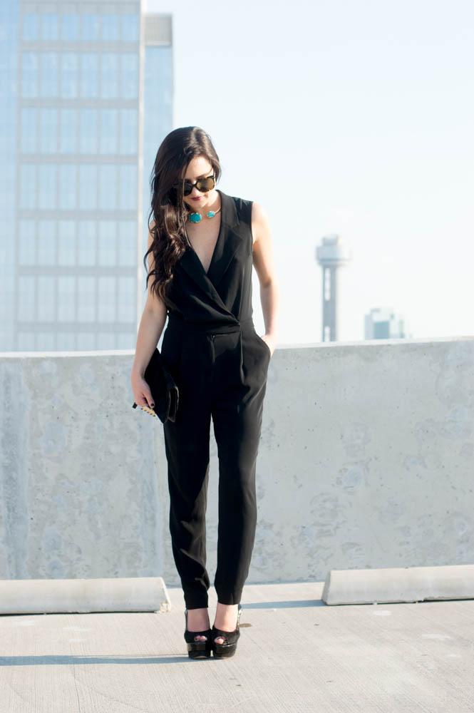 armani exchange black jumpsuit-17