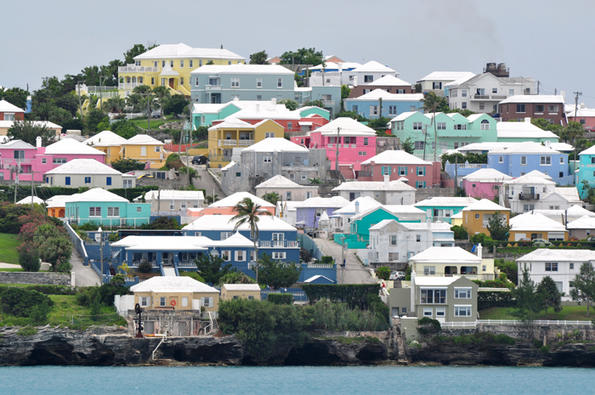 Bermuda colorful homes