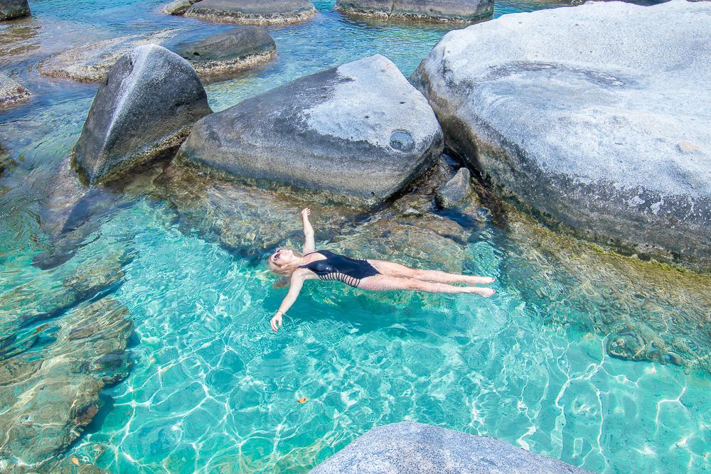 Virgin Gorda Baths float