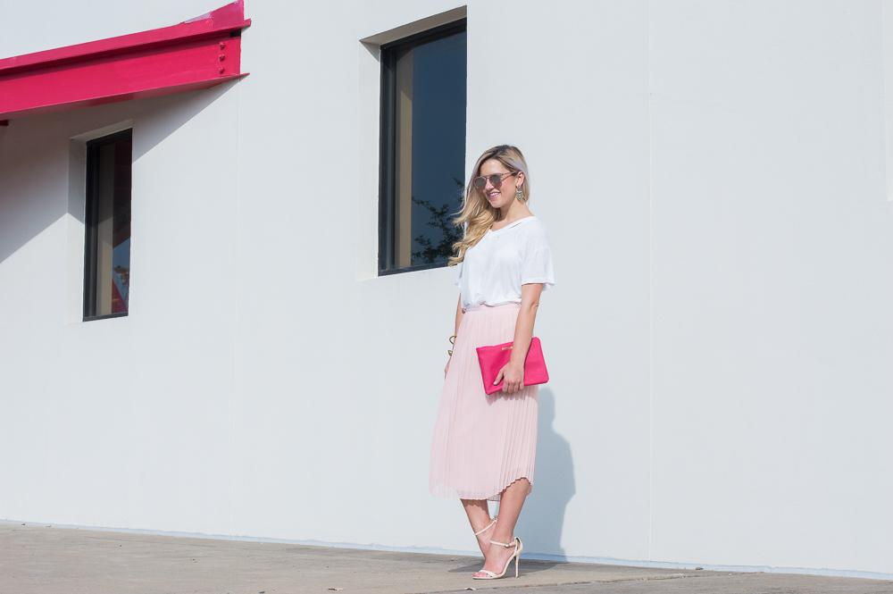 blush pleated skirt-2