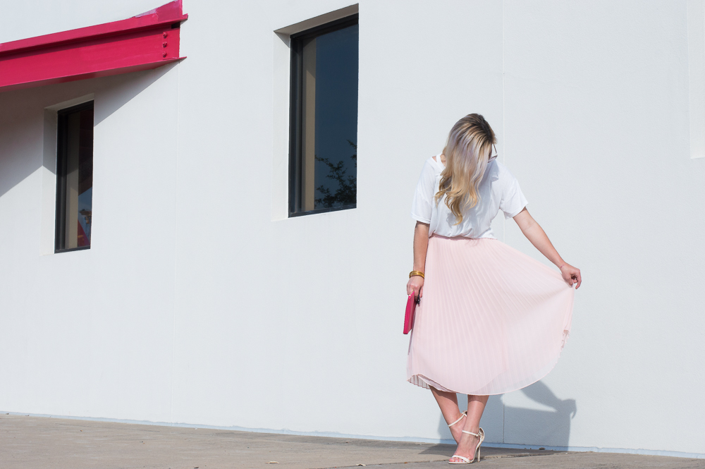 blush pleated skirt-7