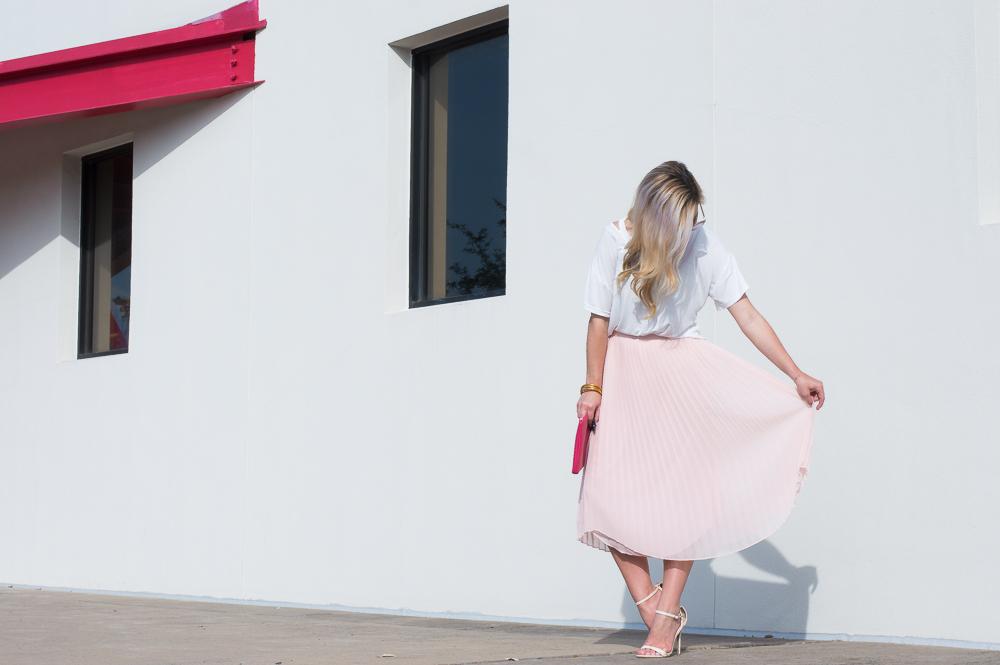 blush pleated skirt-7