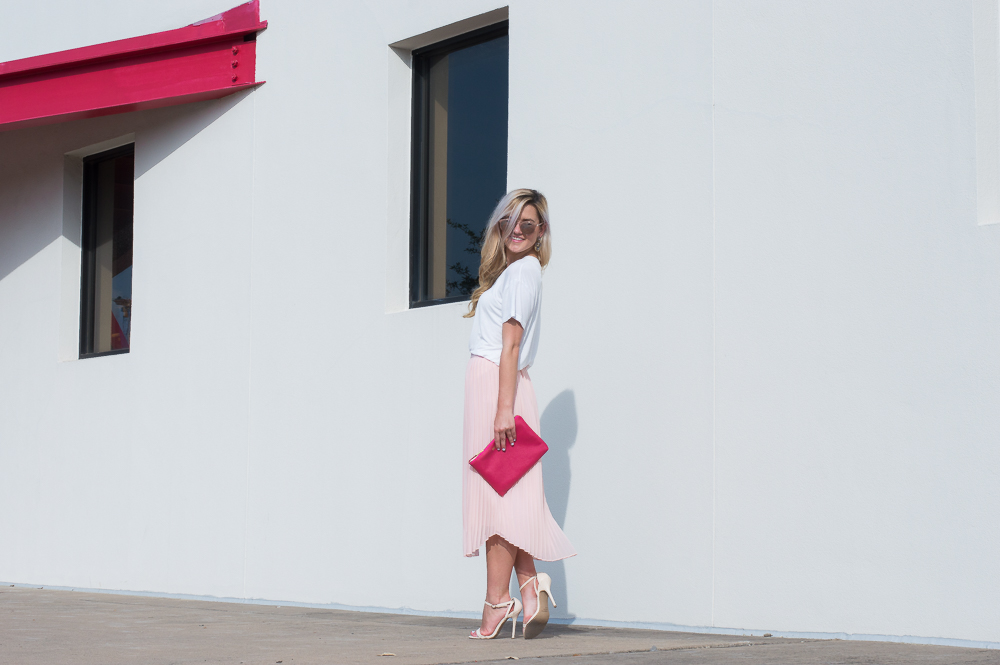 blush pleated skirt-9