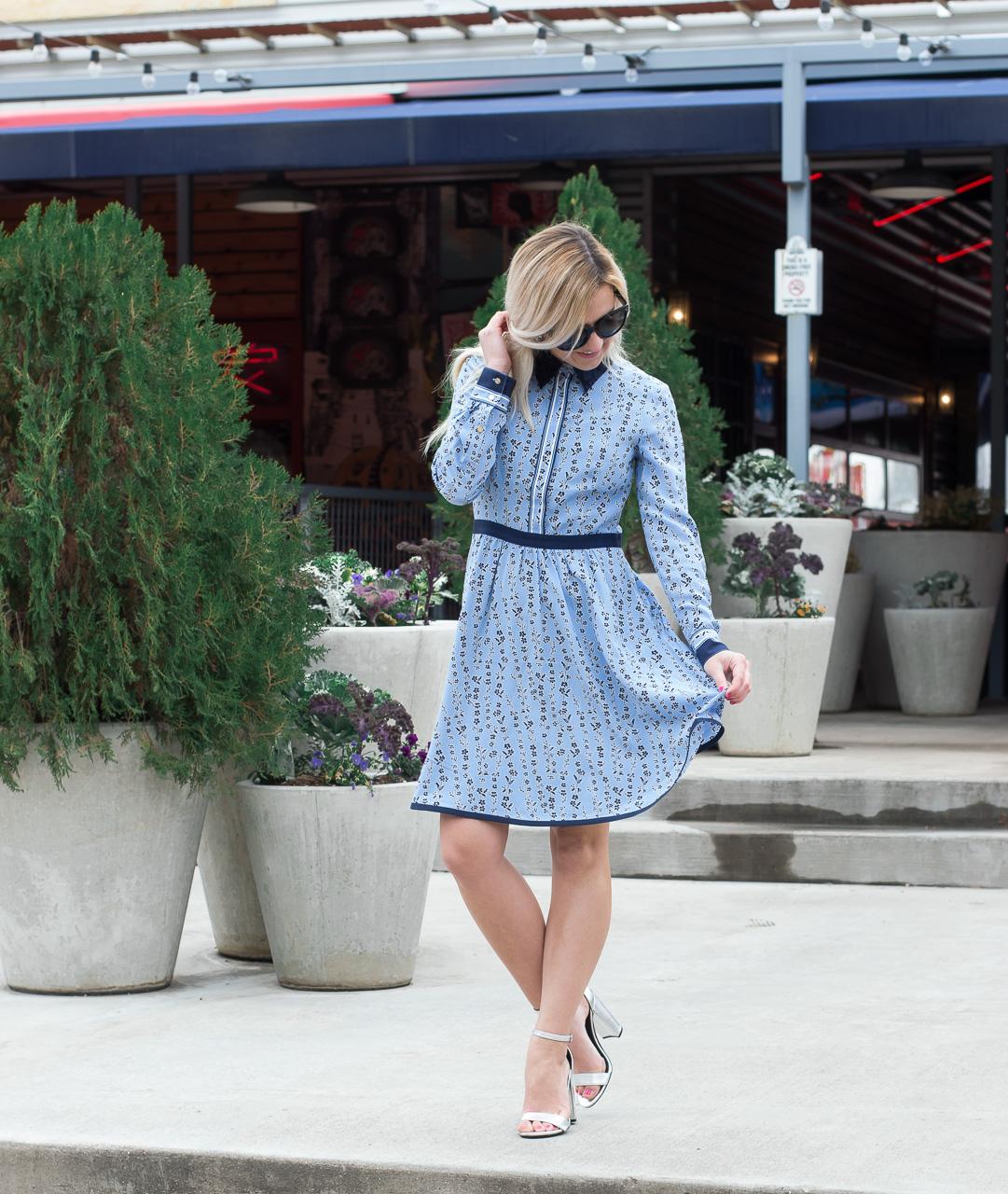 Draper James Blue Shirt Dress
