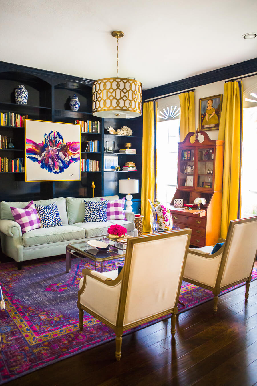 Living Room Design Contemporary: How To Make Antiques Look Modern • The Perennial Style