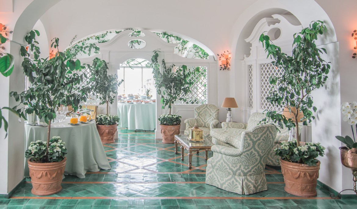 Le Sirenuse Green Breakfast Room