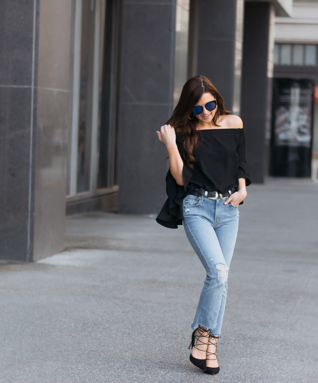 Mother Crop Flare Jeans (1 of 13)