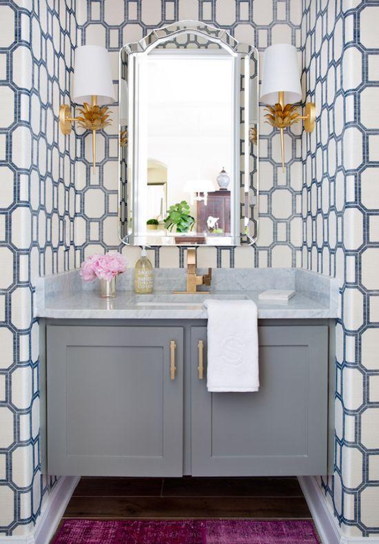 Wallpaper Guest Bathroom