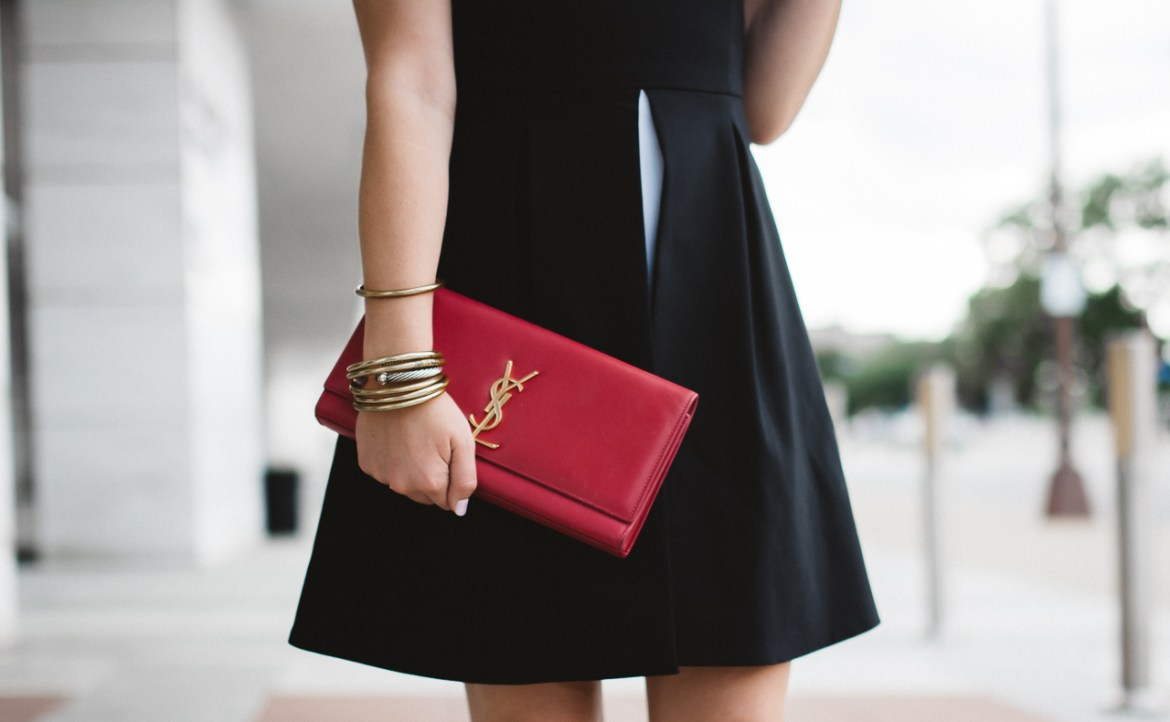 Pink Saint Laurent Clutch