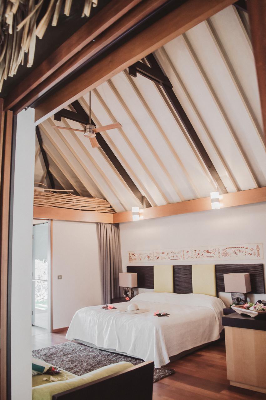 Hotel Kia Ora Rangiroa French Polynesia Pool Villa Bedroom