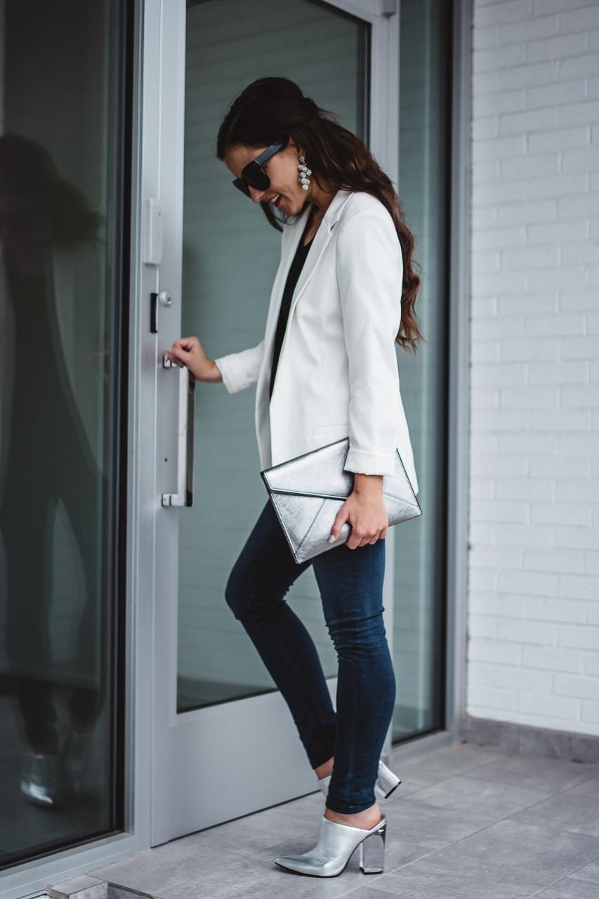 White Blazer Fall Outfit