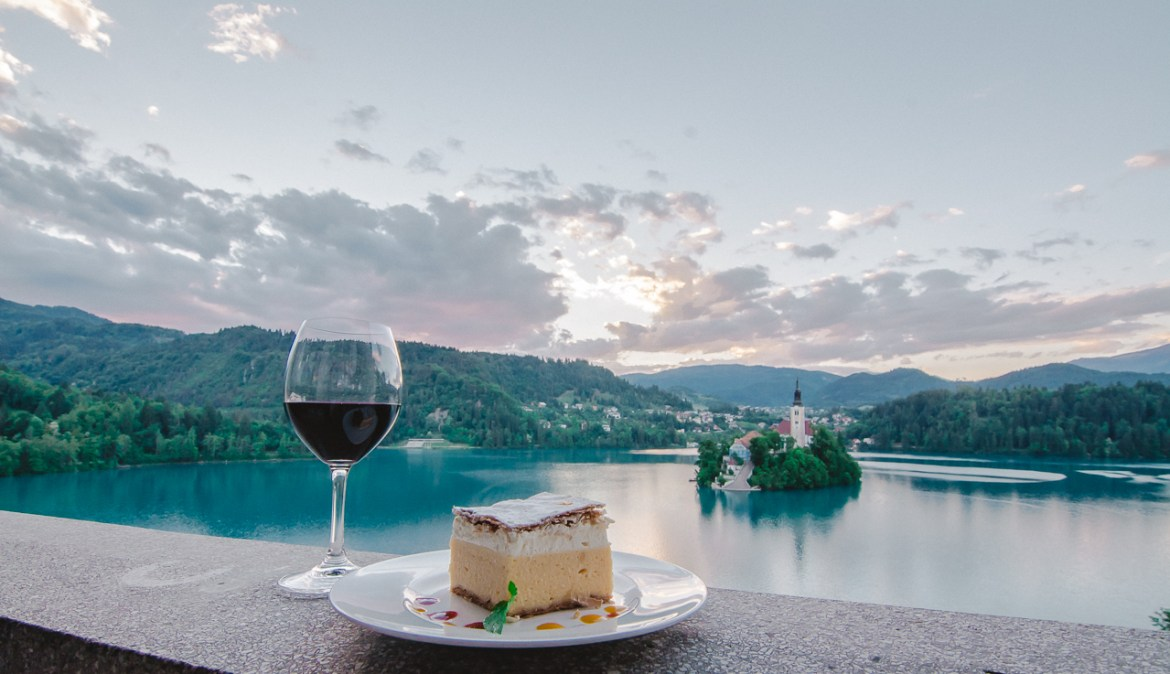 Cafe Belvedere Cream Cake Lake Bled Slovenia