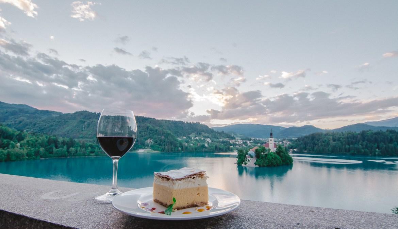 Cafe Belvedere Cream Cake Lake Bled Slovenia