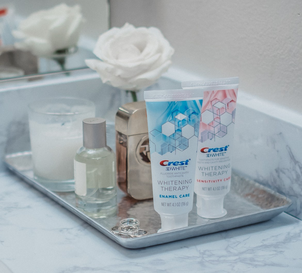 Crest sensitive care whitening toothpaste