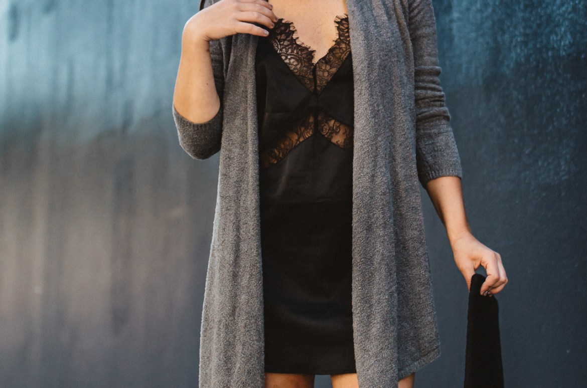 Lingerie Slip Dress With Sweater-23