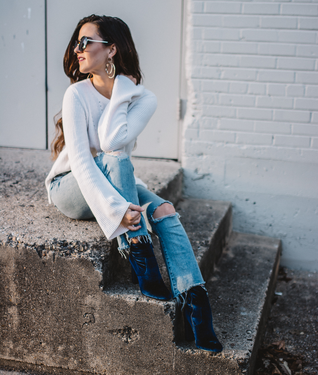 Velvet Booties Outfit